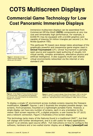 COTS Multiscreen Displays