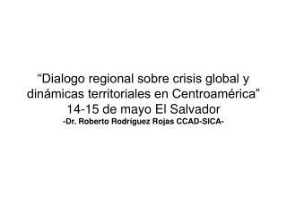 """""""Crisis, institucionalidad y agenda ambiental regional"""""""