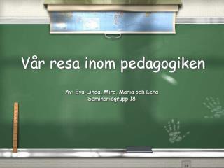 Vår resa inom pedagogiken