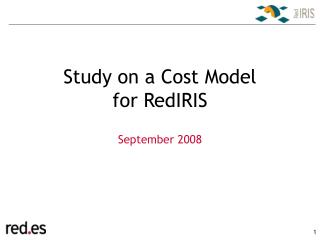 Study on a Cost Model  for RedIRIS
