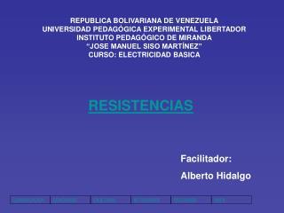 REPUBLICA BOLIVARIANA DE VENEZUELA  UNIVERSIDAD PEDAGÓGICA EXPERIMENTAL LIBERTADOR