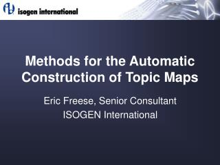 Methods for the Automatic Construction of Topic Maps