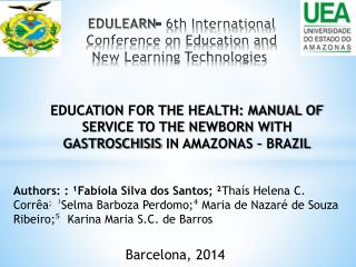 EDULEARN - 6th International Conference on Education and New Learning Technologies