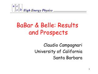 BaBar & Belle: Results  and Prospects