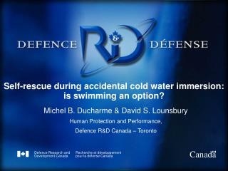 Self-rescue during accidental cold water immersion: is swimming an option?