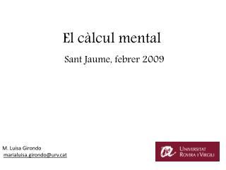 El càlcul mental