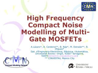 High Frequency Compact Noise Modelling of Multi-Gate MOSFETs