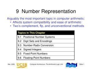 9  Number Representation