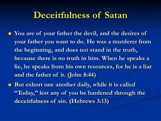 Deceitfulness of Satan