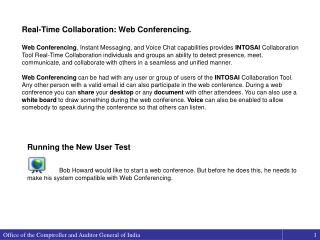Real-Time Collaboration: Web Conferencing.