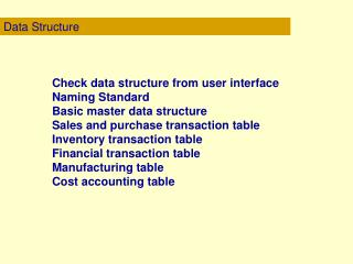 Data Structure