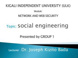 KIGALI INDEPENDENT UNIVERSITY  (ULK)