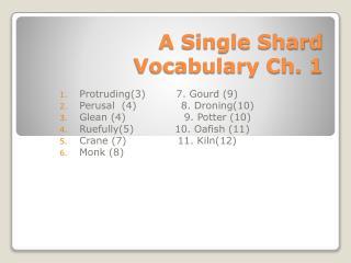 A Single Shard Vocabulary Ch. 1