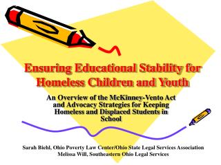 Ensuring Educational Stability for Homeless Children and Youth