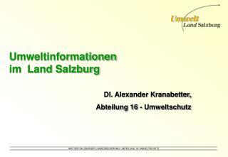 Umweltinformationen  im  Land Salzburg