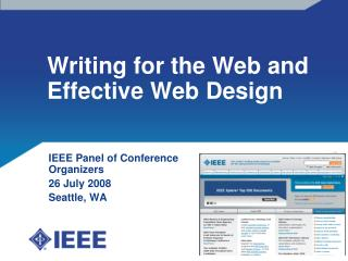 Writing for the Web and Effective Web Design