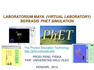 LABORATORIUM MAYA   ( VIRTUAL LABORATORY ) BERBASIS  PHET SIMULATION