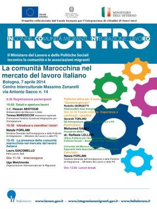 La comunità Marocchina nel mercato del lavoro italiano
