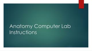 Anatomy Computer Lab Instructions