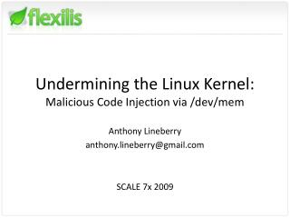 Undermining the Linux Kernel: Malicious Code Injection via