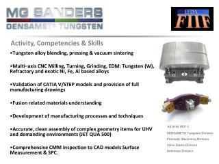 Tungsten alloy blending, pressing & vacuum sintering