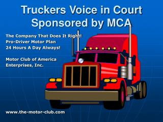 Truckers Voice in Court Sponsored by MCA