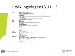 Utviklingsdagen15.11.13