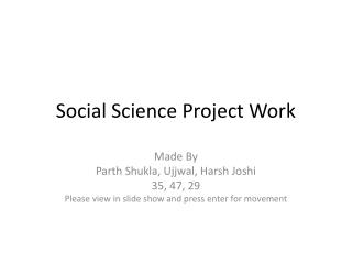 Social Science Project Work
