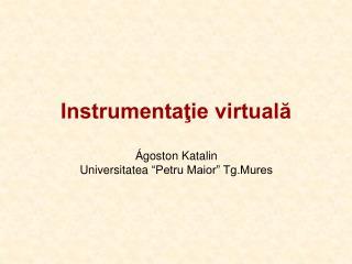 Instrumentaţie virtuală