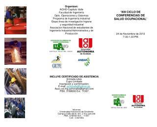 Informes Universidad Autónoma de Occidente  Campus Valle del lili  Km. 2 Vía Jamundi