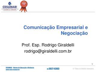 Comunicação Empresarial e Negociação
