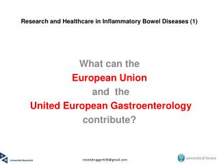 Research and Healthcare in Inflammatory Bowel Diseases (1)