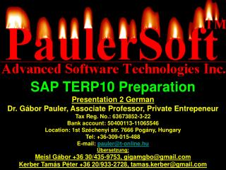 SAP TERP10  Preparation Presentation  2  German