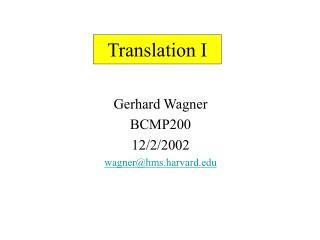 Translation I