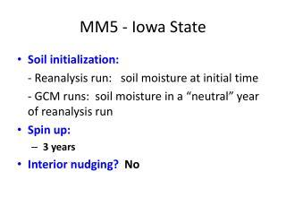 MM5 - Iowa State