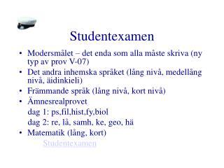 Studentexamen