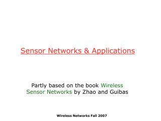 Sensor Networks & Applications