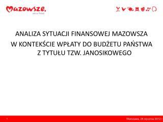 Warszawa, 26 stycznia 2012 r.