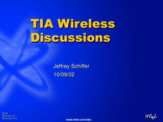 TIA Wireless Discussions