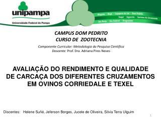 CAMPUS DOM PEDRITO CURSO  DE  ZOOTECNIA