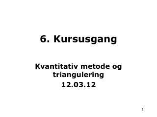 6. Kursusgang