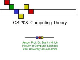 CS 208: Computing Theory