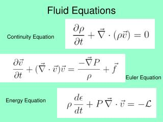 Fluid Equations