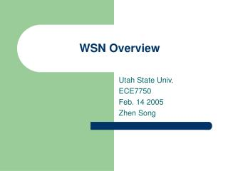 WSN Overview