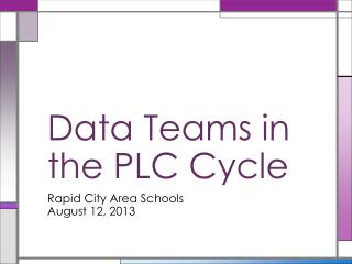Data Teams in the PLC Cycle