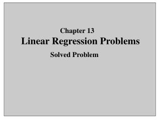 Linear Regression Problems