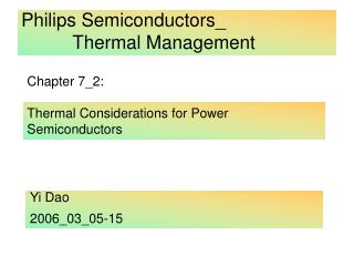 Philips Semiconductors_           Thermal Management