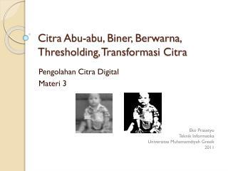 Citra Abu- abu ,  Biner ,  Berwarna ,