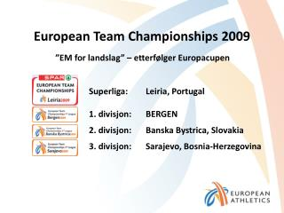 European Team Championships 2009