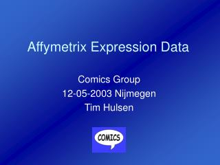 Affymetrix Expression Data